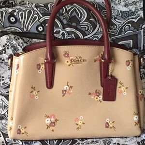 Beautiful flower Coach Purse